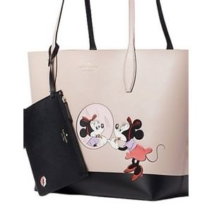 NWT KATE SPADE MINNIE MOUSE LARGE REVERSIBLE TOTE